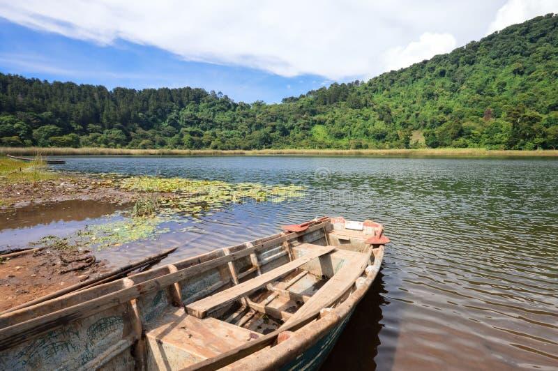 Beautiful landscape of the Laguna Verde in Apaneca, El Salvador stock photo