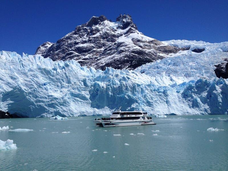 Boat cruise on the Lake Argentina, Argentina royalty free stock image