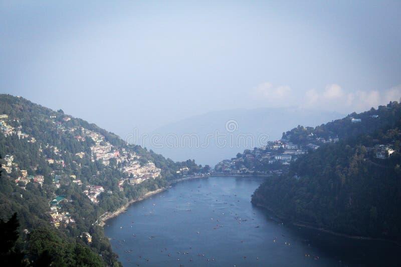 Nainital. This Is The Beautiful Landscape Of The Lake City Of Uttrakhand-Nainital, India royalty free stock photo