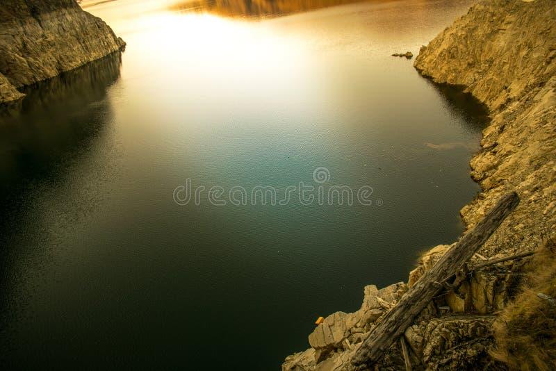 Landscape of lake Vidraru Romania royalty free stock photography