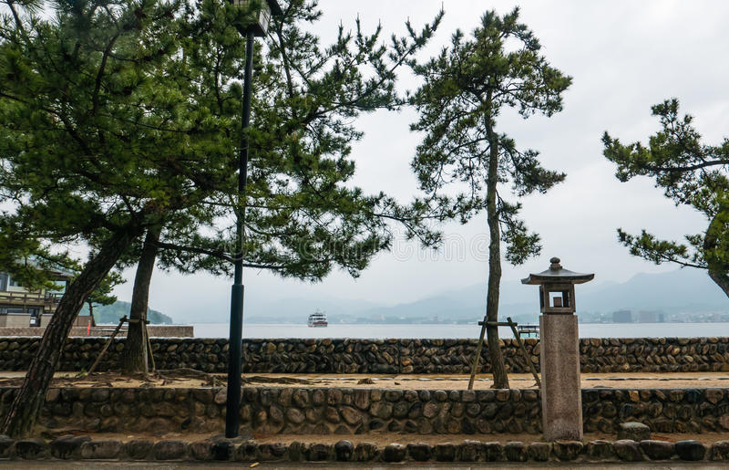 Beautiful landscape of Miyajima island stock images