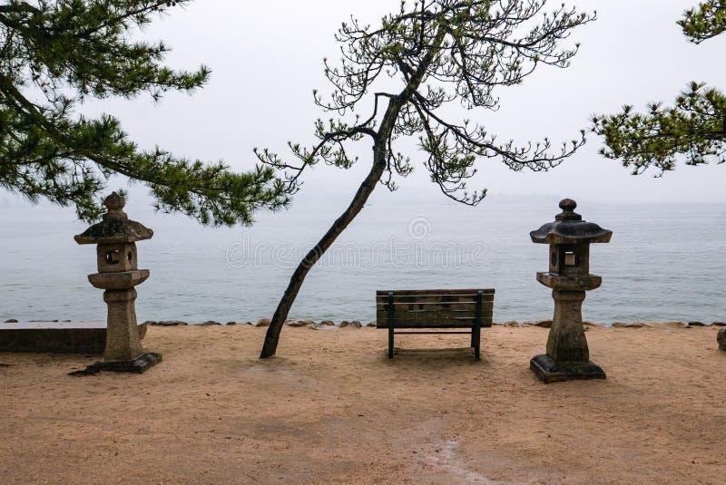 Beautiful landscape of Miyajima island stock image