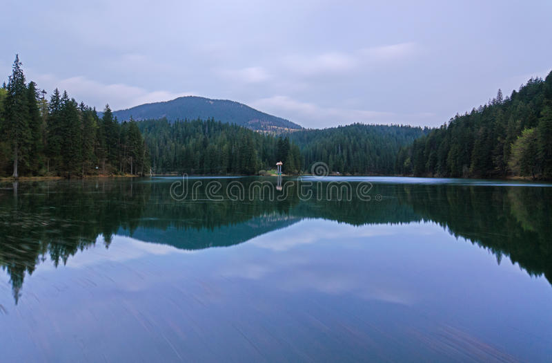 Beautiful landscape in the mountain lake Sinevir. Beautiful spring landscape in the mountain lake Sinevir. Pearl of Carpatian stock images