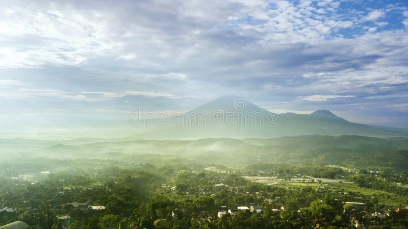 Beautiful landscape of mountain at morning time royalty free stock images