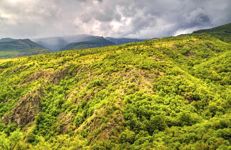 Beautiful landscape in the mountain range. Beautiful summer landscape in the mountain range royalty free stock photo