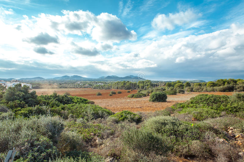 Beautiful landscape mountain view mediterranean. Spain summer royalty free stock photography
