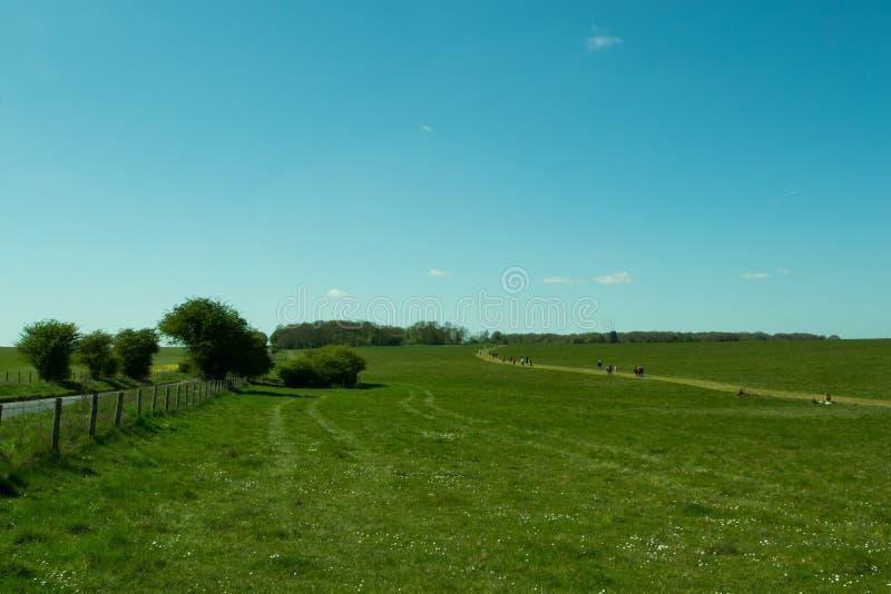 The path to Stonehenge - beautiful landscape stock photo