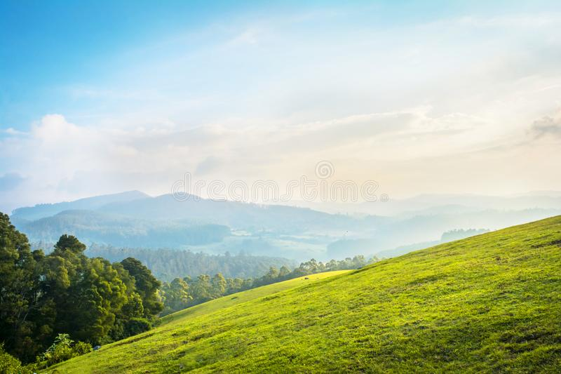 Beautiful landscape - ooty,india. Western ghats of india stock photos