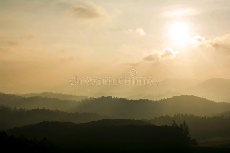 Beautiful landscape - ooty,india. Western ghats of india royalty free stock photo