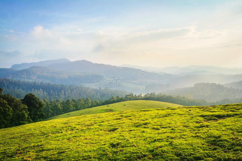 Beautiful landscape - ooty,india. Western ghats of india royalty free stock images