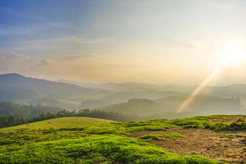 Beautiful landscape - ooty,india. Western ghats of india stock images