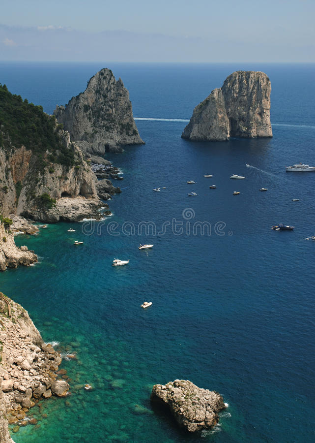Beautiful landscape, rocks and the sea stock images