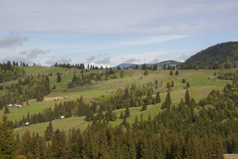 Traveling through the mountains of Romania stock image