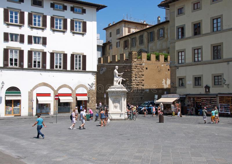 Lavish Renaissance Street In Florence Italy Editorial Stock