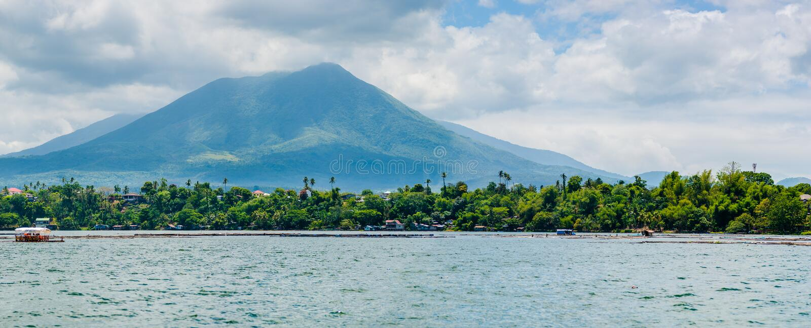Beautiful landscape of Sampaloc Lake at San Pablo, Laguna, Philippines stock image