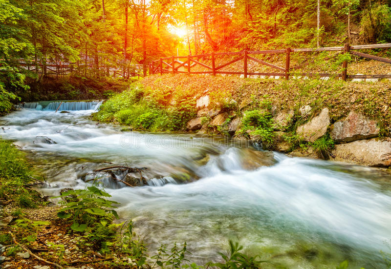 Beautiful landscape scenery in the Italian Alps stock photography