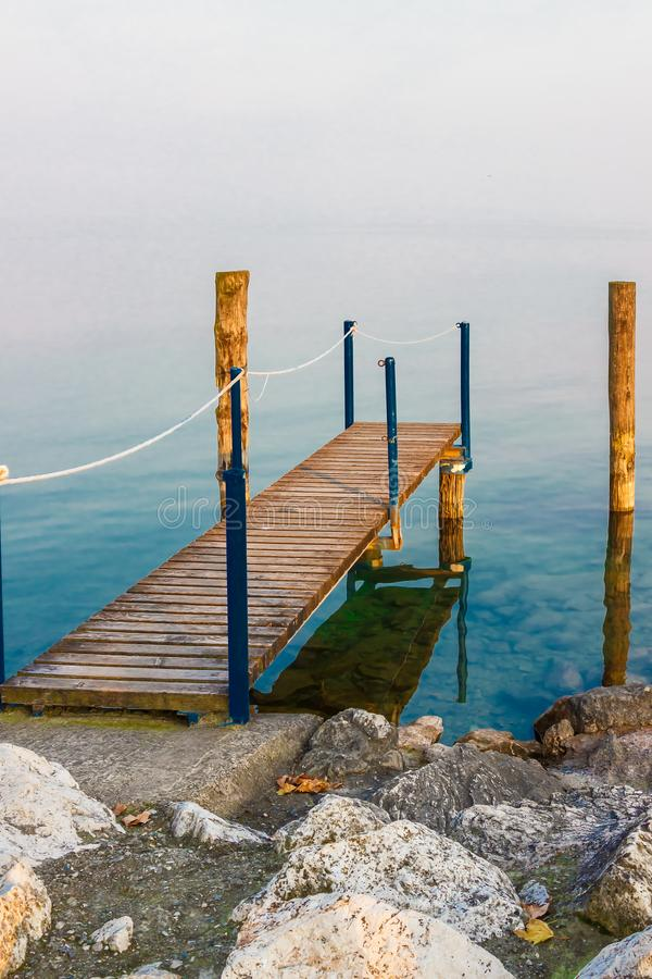 Beautiful landscape of scenic Garda lake. In Sirmione, Lombardy, Italy royalty free stock photo