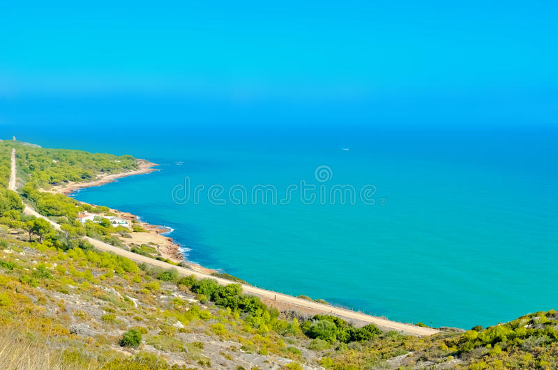 A beautiful landscape of the sea. stock images