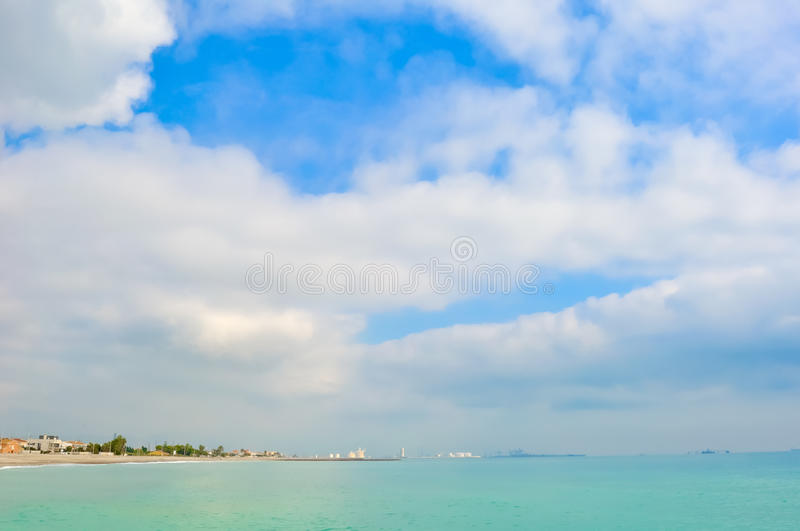 A beautiful landscape of the sea. royalty free stock images