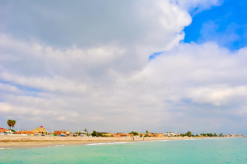 A beautiful landscape of the sea. royalty free stock image