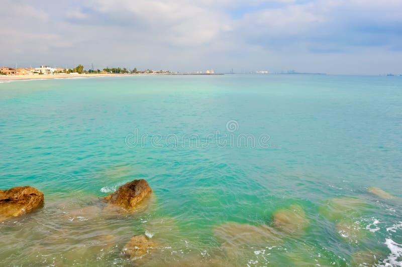 A beautiful landscape of the sea. stock image