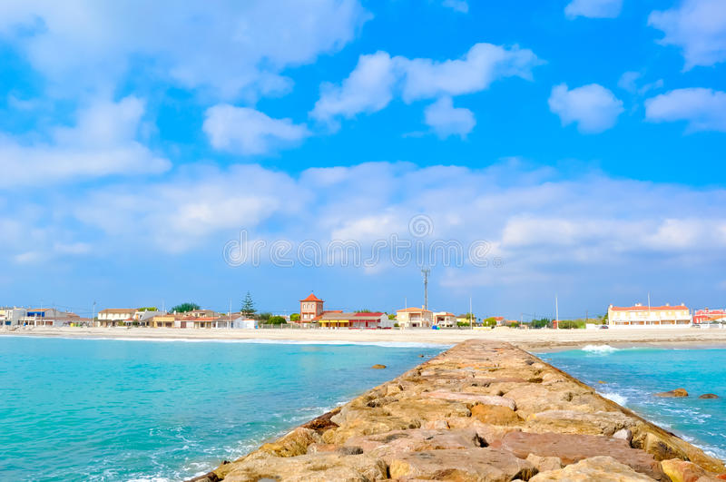 A beautiful landscape of the sea. royalty free stock photography