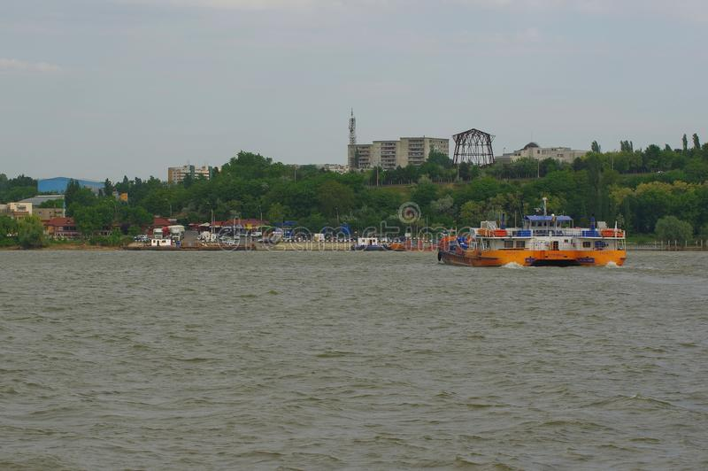 Ship on the Danube river 2 royalty free stock photography