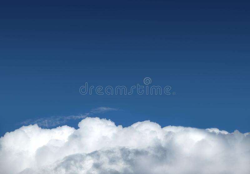Beautiful landscape with skies and white clouds stock image