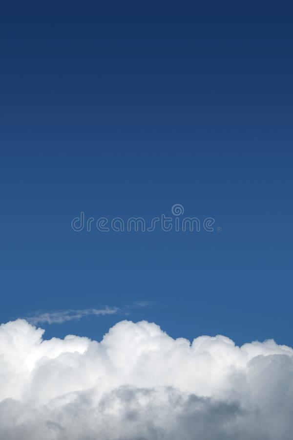 Beautiful landscape with skies and white clouds royalty free stock photo