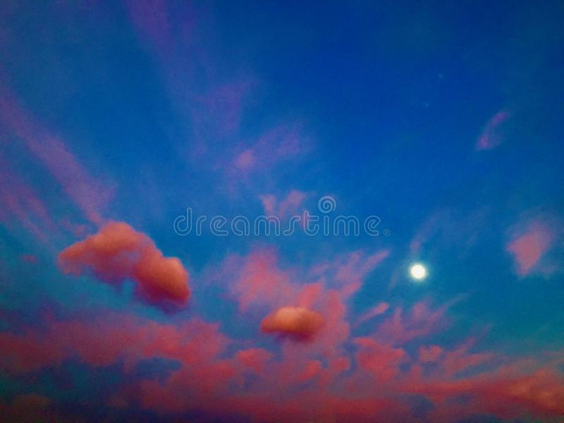 Sunset, sky and colours royalty free stock image