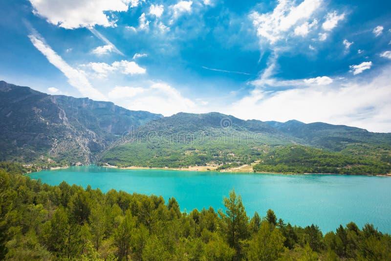 Gorges du verdon and lake saint croix stock photo image - Location gorge du verdon avec piscine ...
