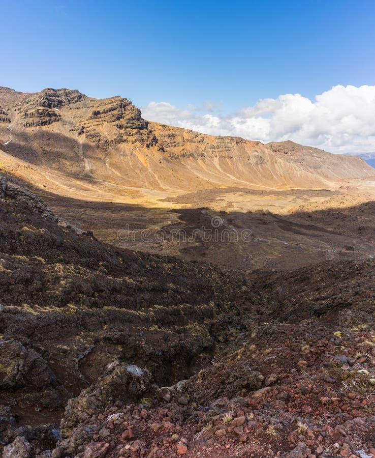 Beautiful landscape of Tongariro national park royalty free stock photo