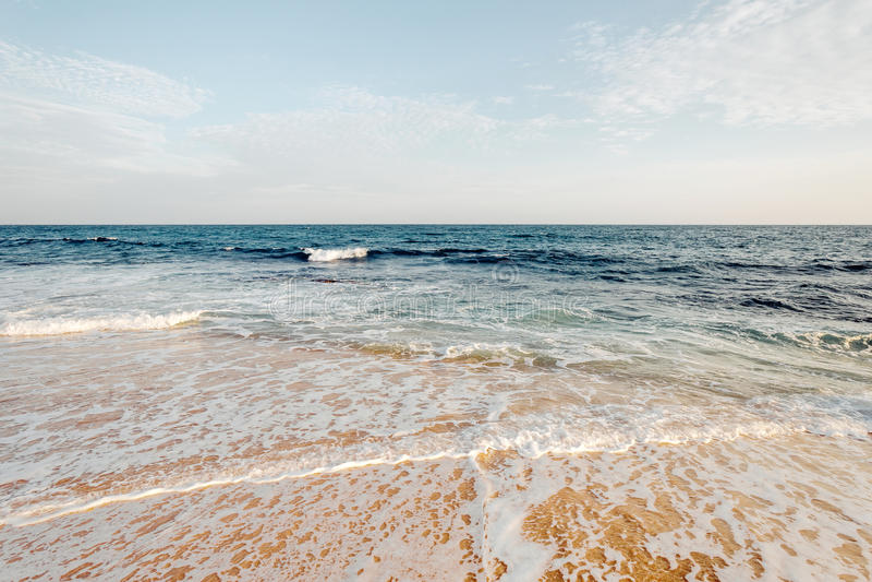Beautiful landscape tropical beach. Beautiful morning landscape tropical beach royalty free stock photos