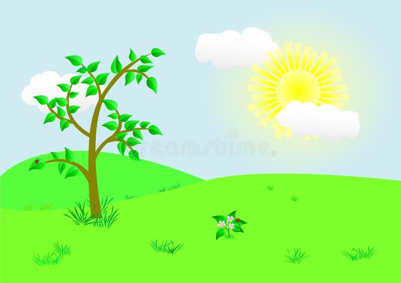 Download Beautiful Landscape. Vector Illustration. Stock Vector - Illustration of ecology, design: 15514488