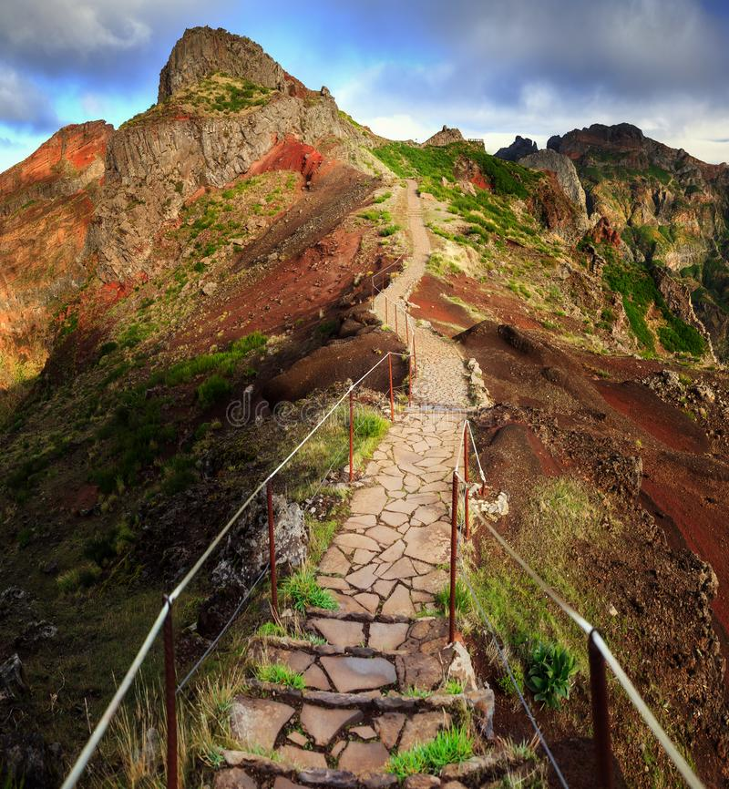 The path to Pico Ruivo royalty free stock photography