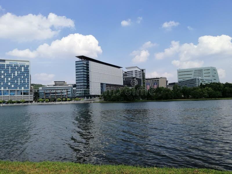 Beautiful landscape view at Lakeside Putrajaya, Presint 8, Putrajaya, Malaysia royalty free stock photos