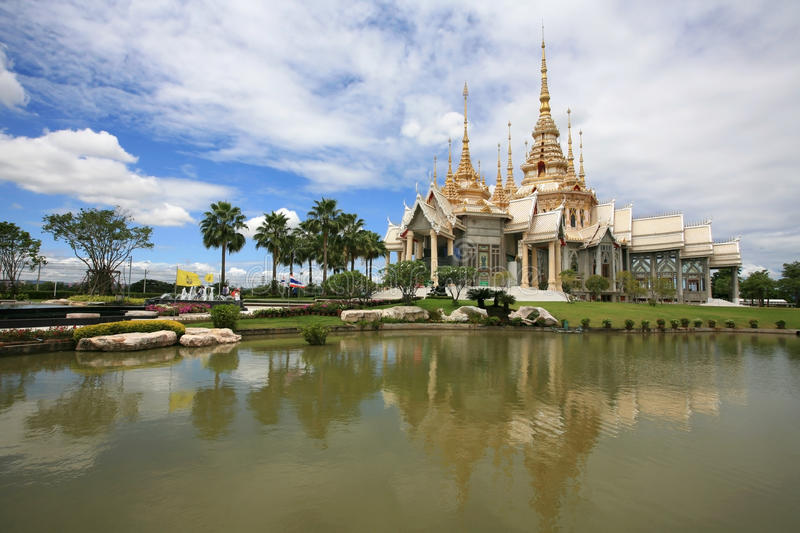 Beautiful Landscape Of White Temple Royalty Free Stock Image