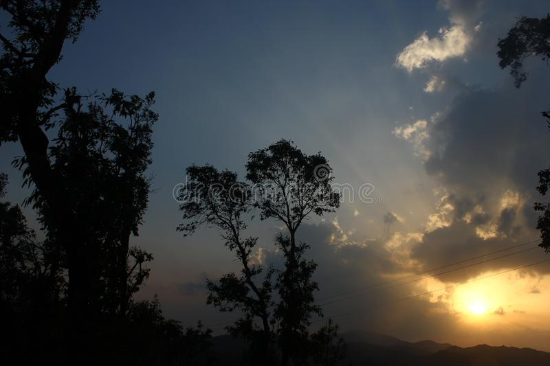 Beautiful scenes in Mukteshwar in Uttarakhand province in India royalty free stock images