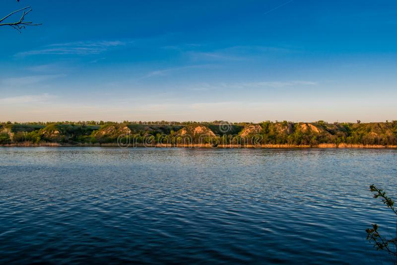 Beautiful landscapes of Russia. Rostov region. Colorful places. Green vegetation and rivers with lakes and swamps. Forests and mea. Dows. Local wonderful and royalty free stock photo