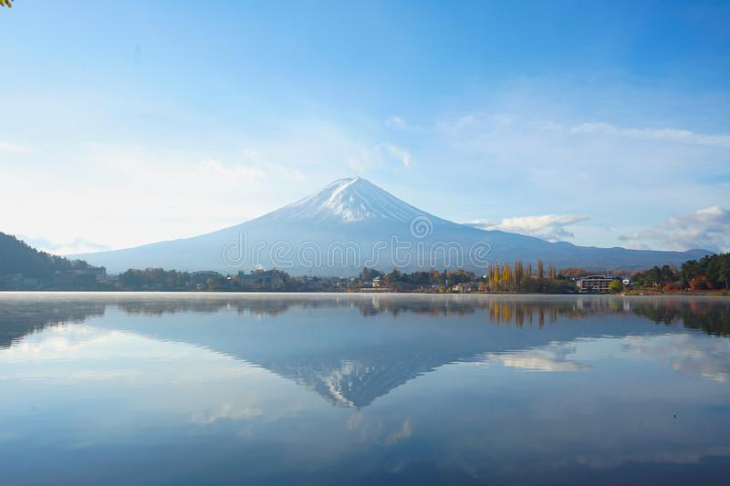 Beautiful landscapes view Mt.Fuji of Japan in the morning royalty free stock images