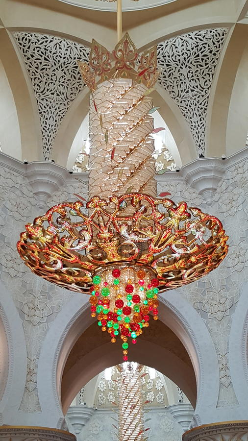 Beautiful Lantern in the Mosque stock image