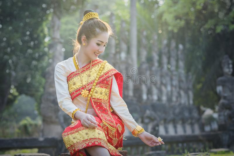 Laos woman stock image
