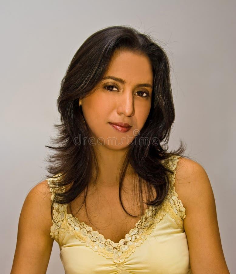 Download Beautiful Latina stock photo. Image of yellow, gloss, hispanic - 4161548