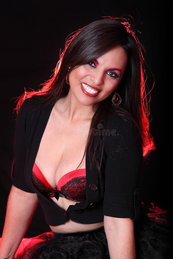 Beautiful Latina Woman Smiling royalty free stock images