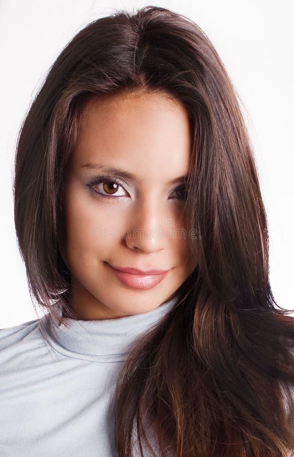 Beautiful latino young woman royalty free stock images