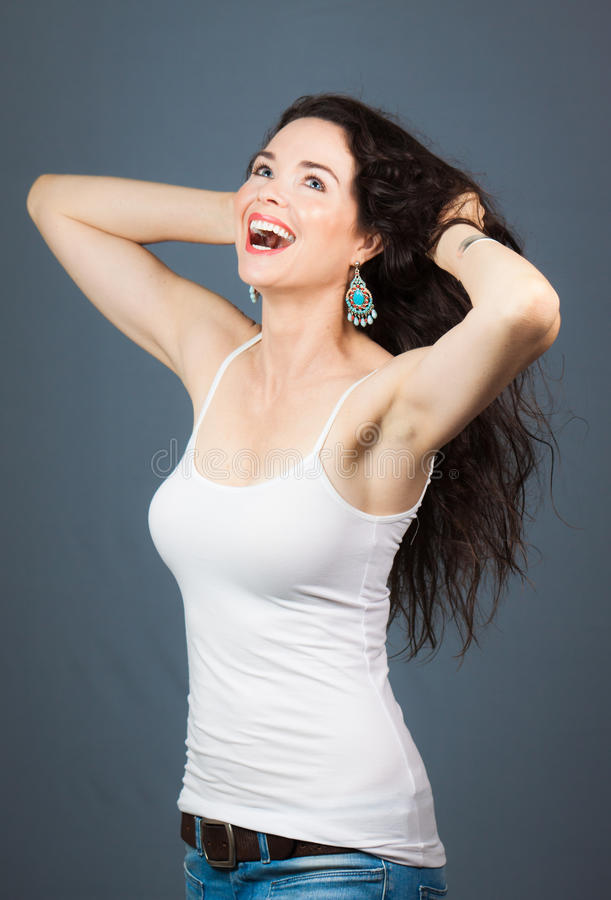 Download Beautiful laughing woman stock photo. Image of gorgeous - 24171546