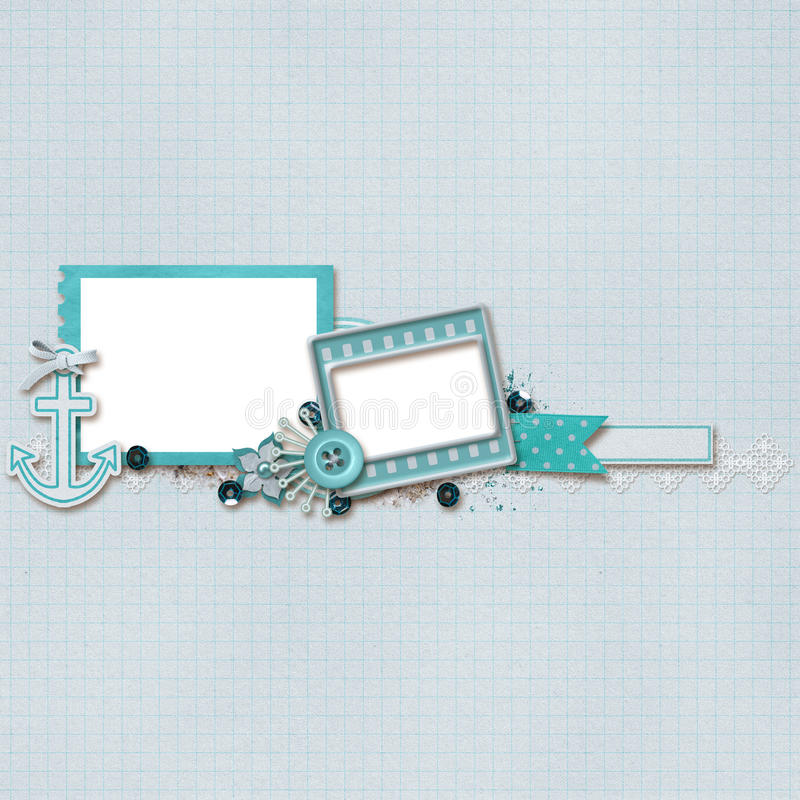Download Beautiful Layout stock illustration. Image of shell, lace - 25387644