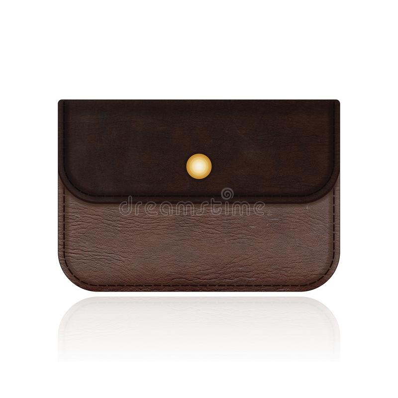 Beautiful leather bag isolated on white background. Leather bag royalty free stock images