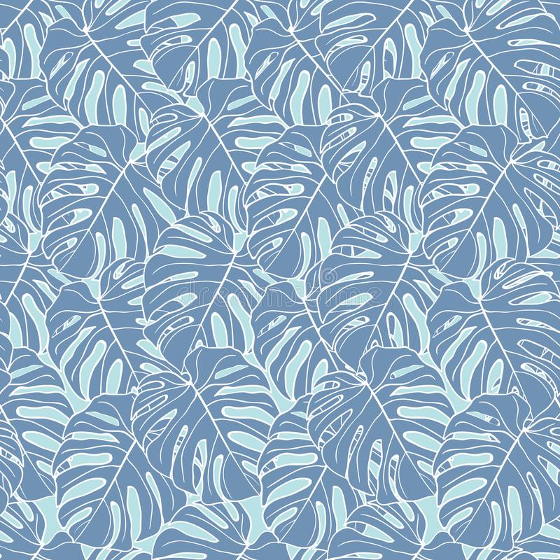 Beautiful leaves and flowers summer pattern design set vector illustration