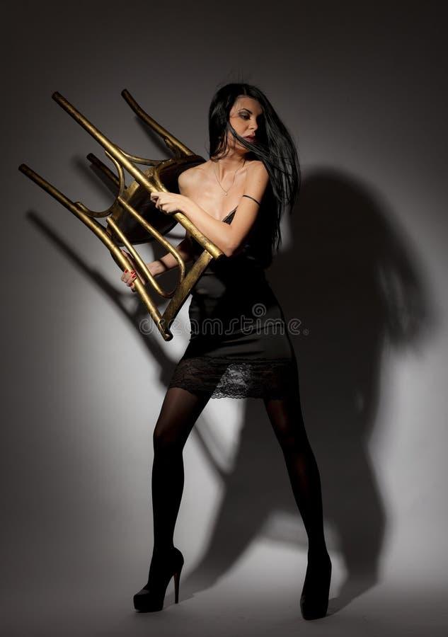 Beautiful Leggy Brunette Girl Stock Photos